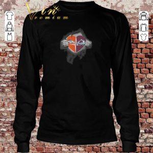 Hot Denver Broncos Colorado Avalanche inside my heart shirt sweater 2019