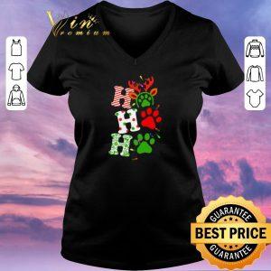 Hot Ho Ho Ho Christmas Dog paw shirt