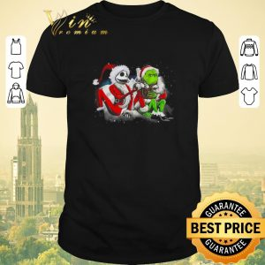 Hot Merry Christmas Jack Skellington and Grinch shirt