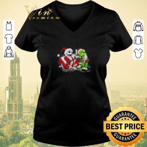 Hot Merry Christmas Jack Skellington and Grinch shirt