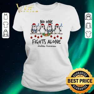 Hot Penguins no one fights alone Diabetes Awareness Christmas shirt sweater