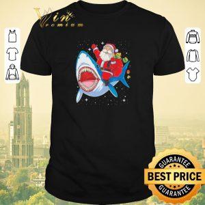 Hot Satan riding shark Christmas shirt sweater