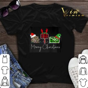 Mail Merry Christmas Leopard Plaid shirt sweater