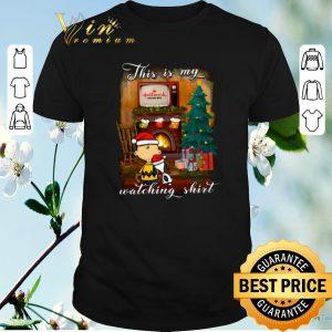 Nice Charlie Brown Snoopy This is my Hallmark Christmas movie watching shirt sweater