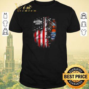 Nice Keystone Light beer inside American flag shirt sweater