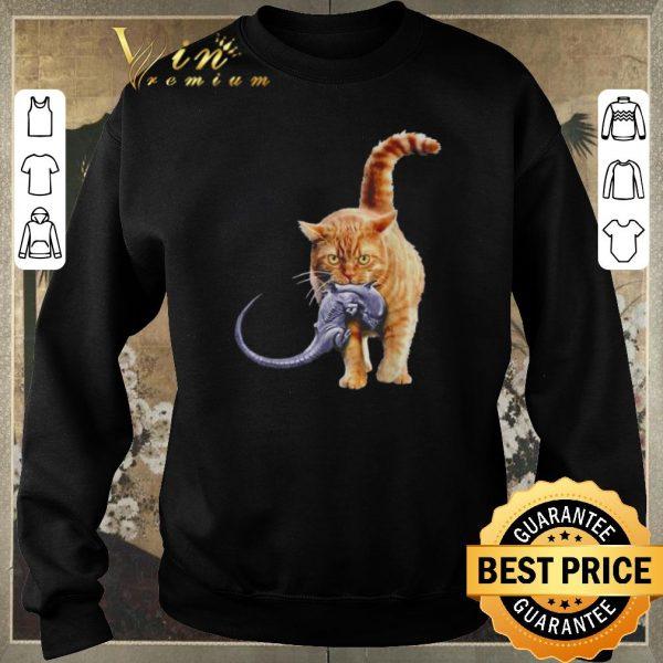 Official Cat eat alien shirt sweater