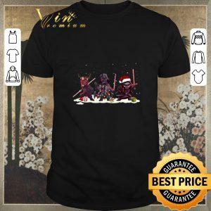 Official Christmas Kylo Ren Darth Vader And Darth Maul Chibi shirt