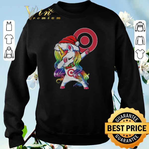 Official Christmas dabbing unicorn Target shirt sweater