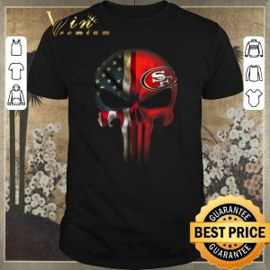 Official The Punisher Skull American flag San Francisco 49ers shirt sweater