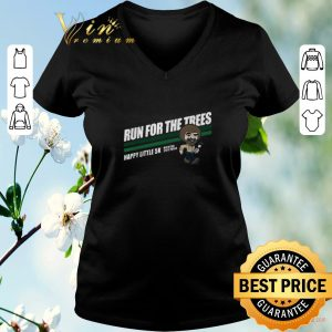 Original Bob Ross run for the trees happy little 5k Michigan State Parks shirt sweater