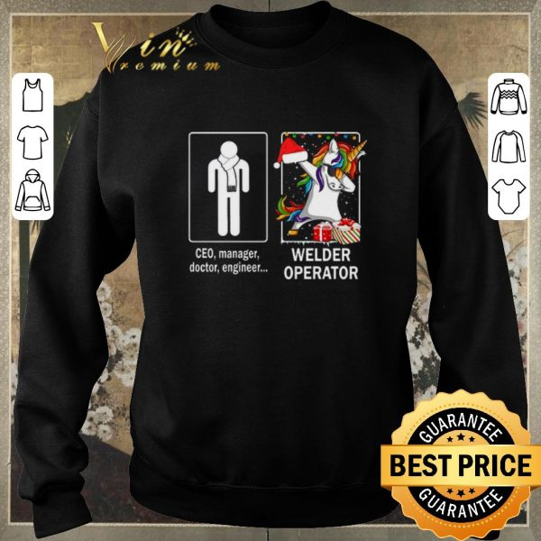 Original Ceo manager doctor engineer and unicorn Welder Operator shirt sweater