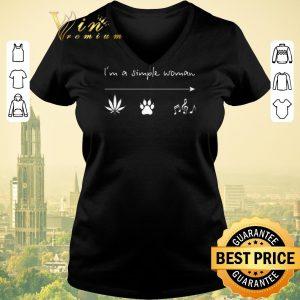 Original I'm a simple woman weed bear paw music shirt sweater