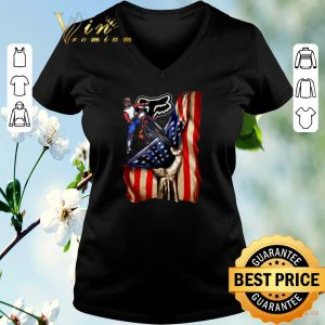 Original Motorcycle Fox Racing American flag shirt sweater