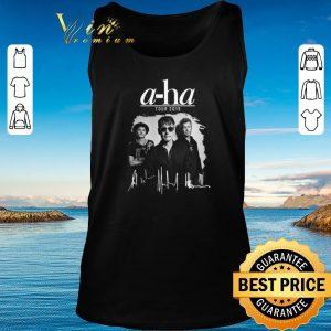 Original Signatures A-ha tour 2019 shirt