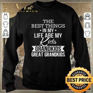 Original The best things in my life are my kids grandkids great grandkids shirt sweater 2