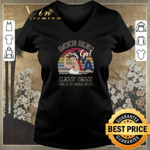 Original Vintage American Airlines Girl Classy Sassy And A Bit Smart Assy shirt