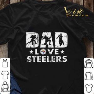 Pittsburgh Steelers Dad love Steelers shirt sweater 2