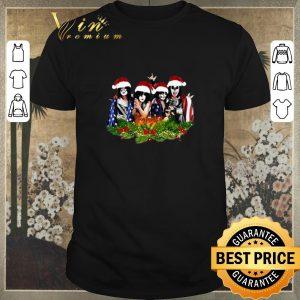 Premium American Flag Kiss Merry Christmas shirt