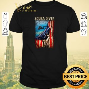 Premium American flag Scuba Diver shirt