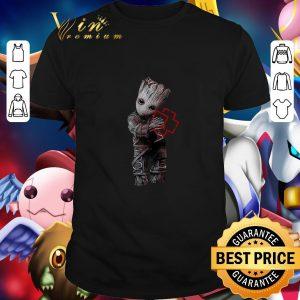 Premium Baby Groot hug Rammstein shirt