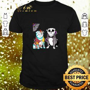 Premium Bulldog Jack Skellington and Sally shirt