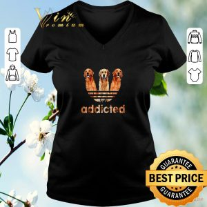 Premium Golden Retriever addicted adidas shirt sweater