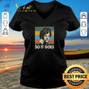 Premium Kurt Vonnegut So it goes vintage shirt sweater 2019