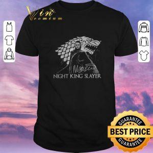 Premium Signature Arya Stark Night King Slayer shirt