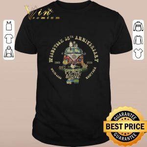 Premium Snoopy Woodstock 50th anniversary 1969-2019 peace & love Hippie shirt sweater 2019