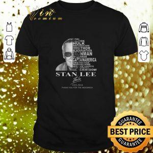 Premium Stan Lee 1922-2018 thank you for the memories Loki Hulk Thor shirt