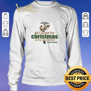 Pretty All i want for christmas is my son home Marine mom shirt sweater 2
