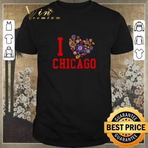 Pretty I love Chicago Sports Teams logo shirt sweater