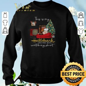 Pretty Snoopy Charlie this is my Hallmark Christmas movie watching shirt sweater 2