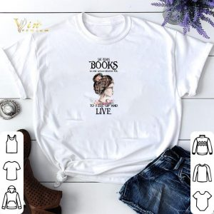 She reads books as one would breathe air to fill up and live shirt sweater