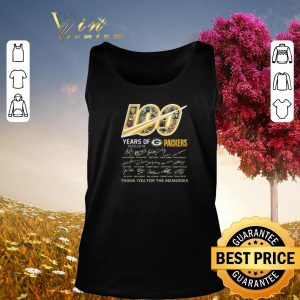 Signatures 100 years of Green Bay Packers 1919-2019 shirt
