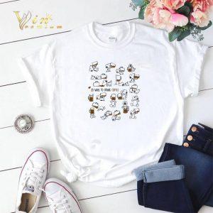 Snoopy 20 ways to drink coffee shirt sweater