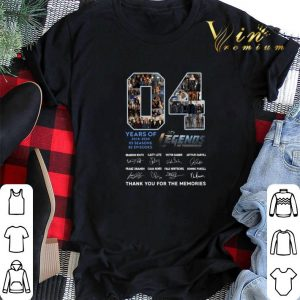 Thank you for the memories 04 Years of Dc's Legends Of Tomorrow shirt