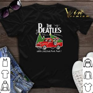 The Beatles Signatures Happy Christmas Beatle People shirt sweater