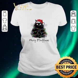 Top Black Cat Merry Fluffmas shirt sweater