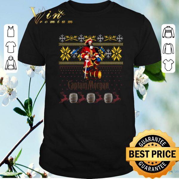 Top Captain Morgan ugly Christmas shirt sweater