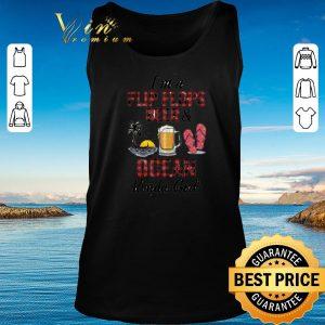 Top I'm a flip flops beer & ocean kinda girl shirt 2020