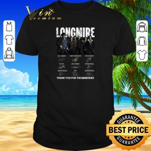 Top Longmire signatures thank you for the memories-Recovered shirt sweater 2019
