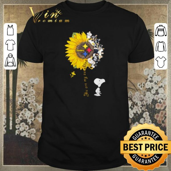 Top Snoopy Woodstock you are my sunshine Pittsburgh Steelers shirt sweater