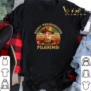 Vintage John Wayne Happy Thanksgiving Pilgrims shirt
