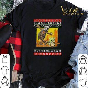 ugly Christmas Star Wars Jango Fett and Baby Yoda sweater