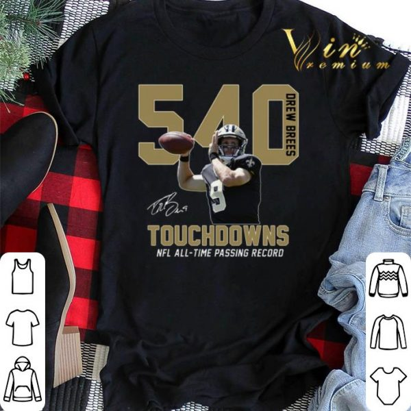 540 Drew Brees signature NFL all time passing to record shirt sweater