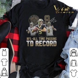 9 Drew Brees Saints signed NFL all time passing to record shirt sweater