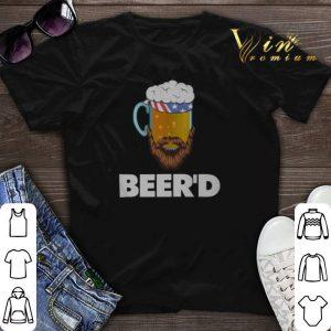 American flag Beer'd beer beard shirt