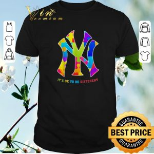Awesome Autism New York Yankees It's Ok To Be Different shirt sweater
