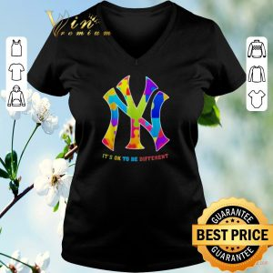 Awesome Autism New York Yankees It's Ok To Be Different shirt sweater 1